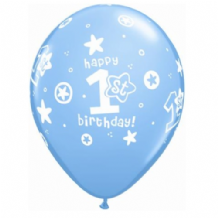 1st Birthday Boy - 11 Inch Balloons 25pcs